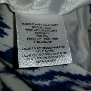 Nine & Co. Dresses - Nine & Co. blue and white sleeveless Size 16 dress